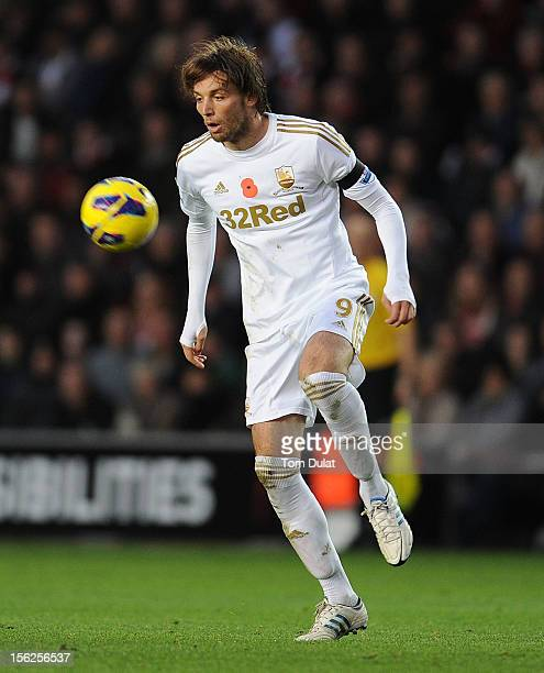 Miguel Michu of Swansea City during the Barclays Premier League match between Southampton and Swansea City at St Mary's Stadium on November 10 2012...