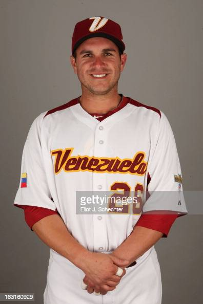 Miguel Montero of Team Venezuela poses for a headshot for the 2013 World Baseball Classic at Roger Dean Stadium on Monday March 4 2013 in Jupiter...