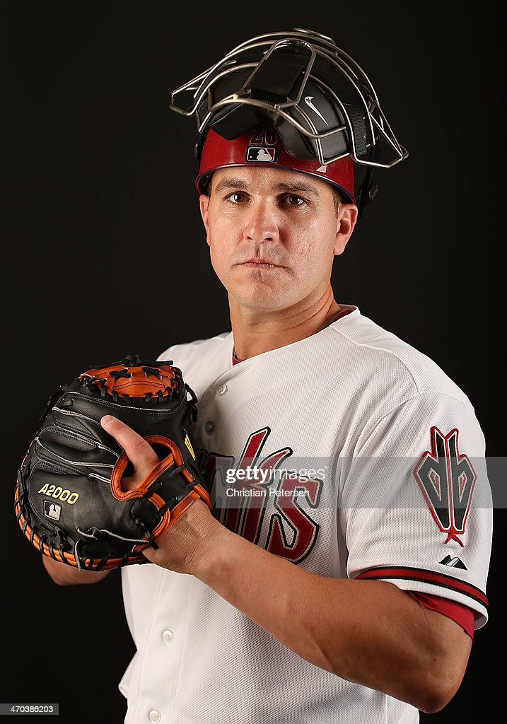 <a gi-track='captionPersonalityLinkClicked' href=/galleries/search?phrase=Miguel+Montero&family=editorial&specificpeople=836495 ng-click='$event.stopPropagation()'>Miguel Montero</a> #26 of the Arizona Diamondbacks poses for a portrait during spring training photo day at Salt River Fields at Talking Stick on February 19, 2014 in Scottsdale, Arizona.