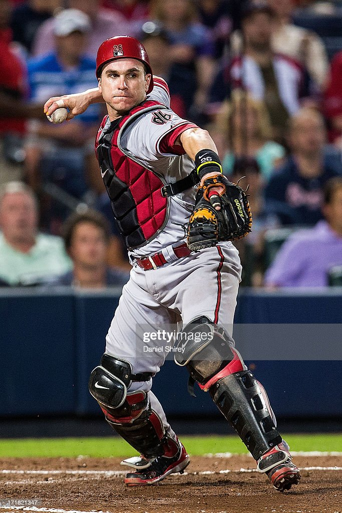 <a gi-track='captionPersonalityLinkClicked' href=/galleries/search?phrase=Miguel+Montero&family=editorial&specificpeople=836495 ng-click='$event.stopPropagation()'>Miguel Montero</a> #26 of the Arizona Diamondbacks turns a double play in the fourth inning against the Atlanta Braves at Turner Field on June 28, 2013 in Atlanta, Georgia.
