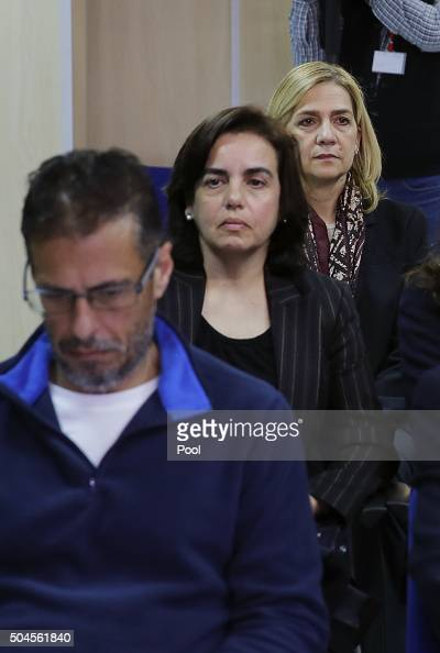 Miguel Ángel Bonet Fiol Ana Maria Tejeiro Losada and Infanta Cristina of Spain appear in court for a hearing where they face various charges...