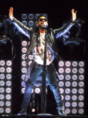 Miguel performs as a opening act for Drake in concert at The Palace of Auburn Hills on December 16 2013 in Auburn Hills Michigan