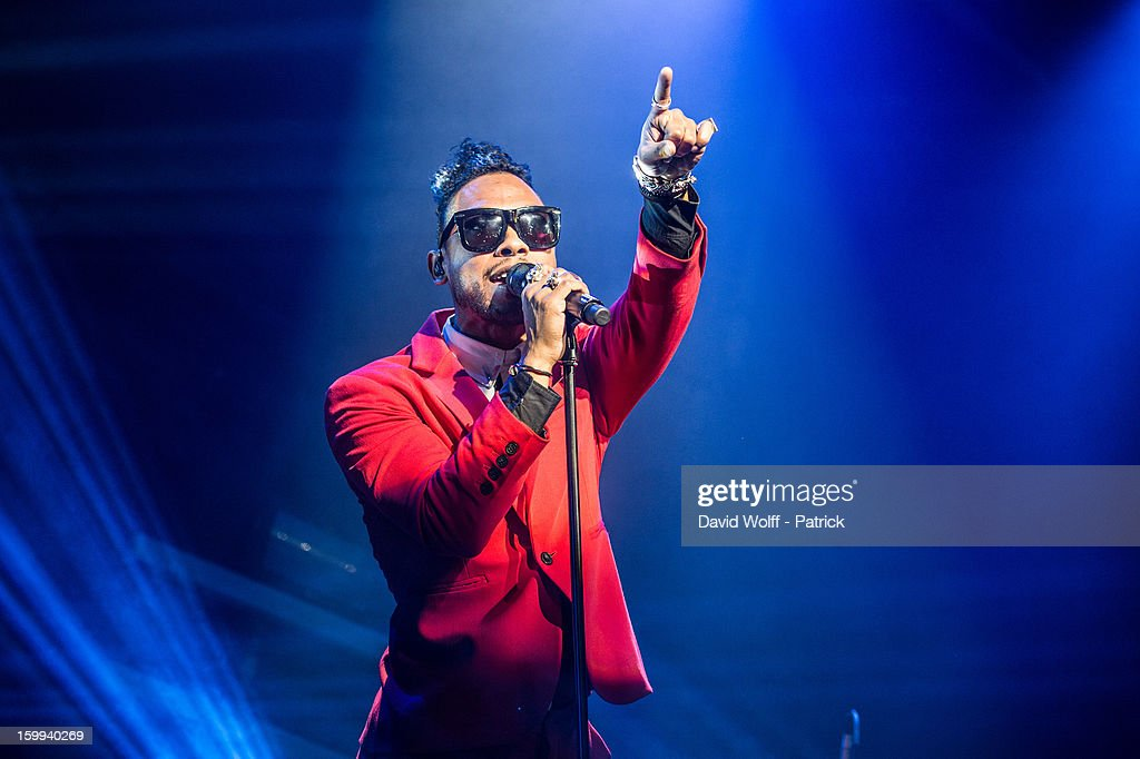 Miguel performs at La Gaite Lyrique on January 23, 2013 in Paris, France.