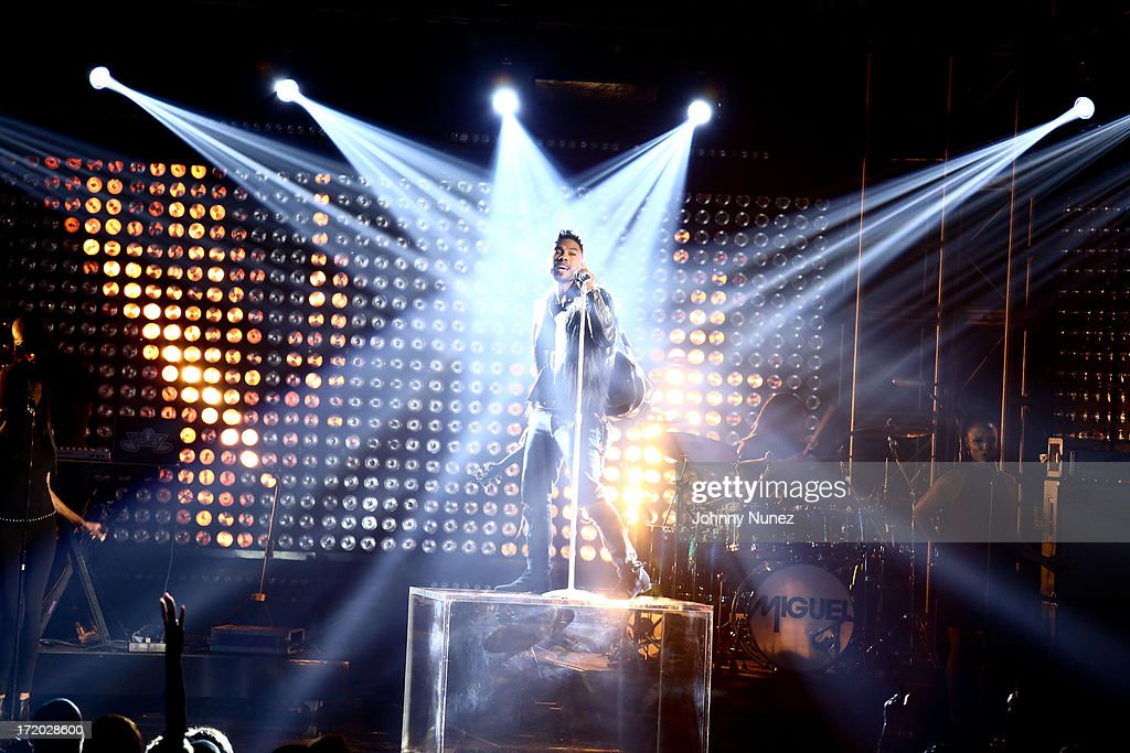 Miguel performs at the 2013 BET Awards at Nokia Plaza L.A. LIVE on June 30, 2013 in Los Angeles, California.