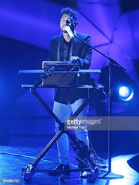 Miguel performs at the GRAMMY Nominations Concert Live held at Nokia Theatre LA Live on December 6 2013 in Los Angeles California