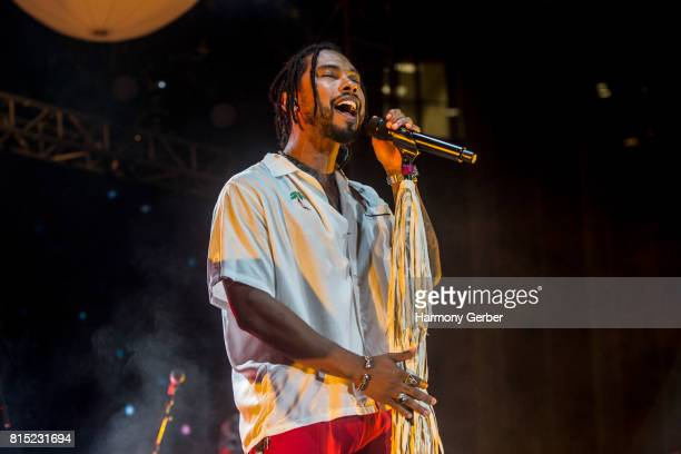 Miguel performs at the KCRW And The Annenberg Foundation's Sound In Focus at Annenberg Space For Photography on July 15 2017 in Century City...