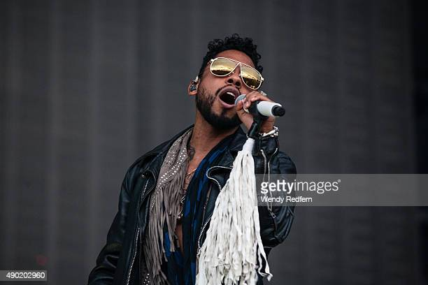 Miguel performs during the 2015 Landmark Music Festival at West Potomac Park on September 26 2015 in Washington DC