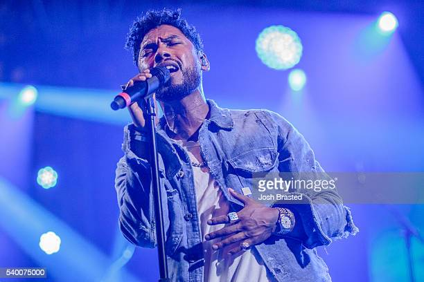 Miguel performs during the Bonnaroo Music Arts Festival on June 11 2016 in Manchester Tennessee