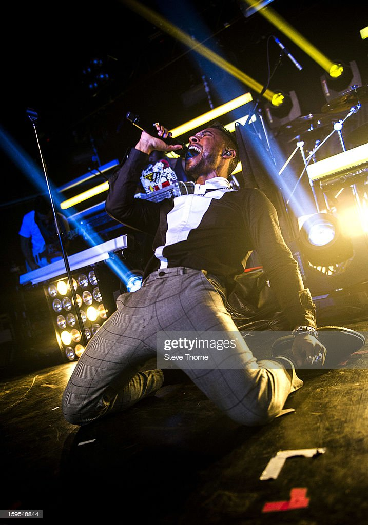 Miguel performs on stage in concert at HMV Institute on January 15, 2013 in Birmingham, England.