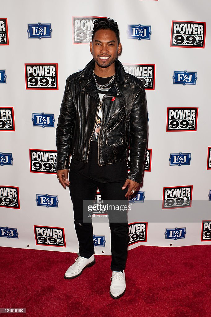 Miguel poses at the Power 99 Powerhouse concert at the Wells Fargo Center on October 26, 2012 in Philadelphia, Pennsylvania.