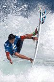 Miguel Pupo of Brazil surfs during Round 1 Heats at the Oi Rio Pro on May 12 2015 in Rio de Janeiro Brazil