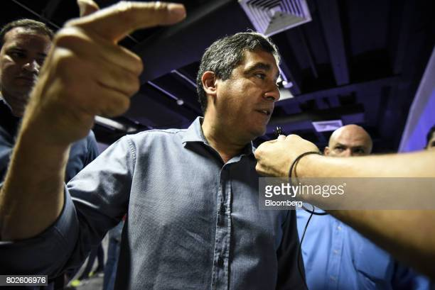 Miguel Rodriguez Torres former Venezuelan interior minister speaks during a press conference in Caracas Venezuela on Tuesday June 27 2017 Venezuelan...