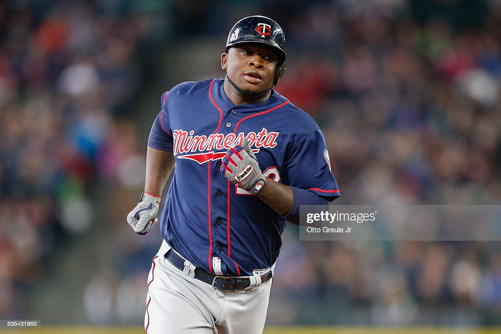 Miguel Sano #22 of the Minnesota Twins circles the bases after hitting a solo home run against the Seattle Mariners in the fourth inning at Safeco Field on May 29, 2016 in Seattle, Washington.
