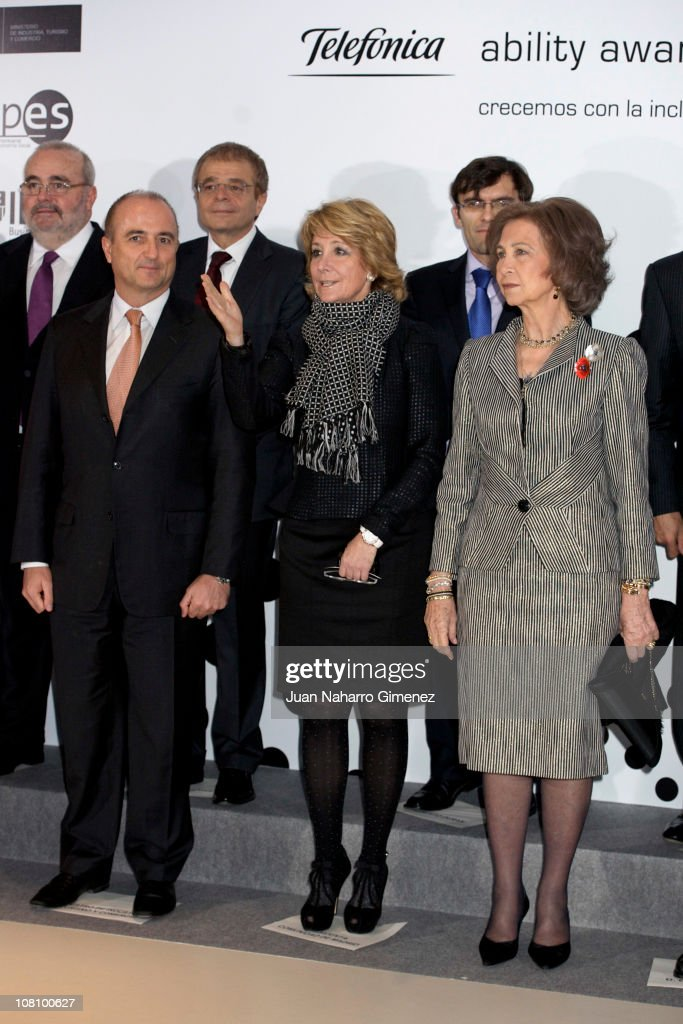Spanish Queen Attends 'Telefonica Ability Awards'