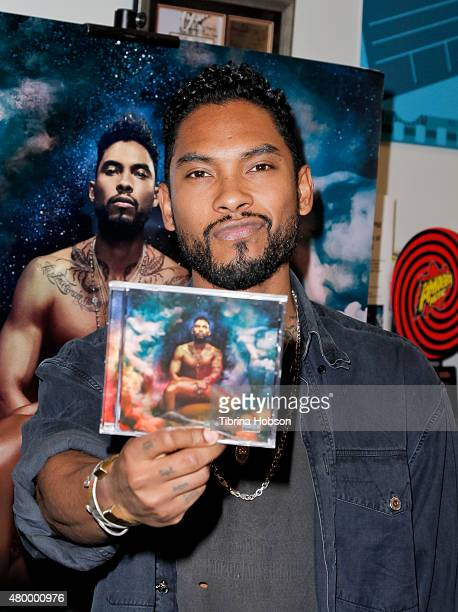 Miguel signs copies of his CD 'Wildheart' at Amoeba Music on July 8 2015 in Hollywood California