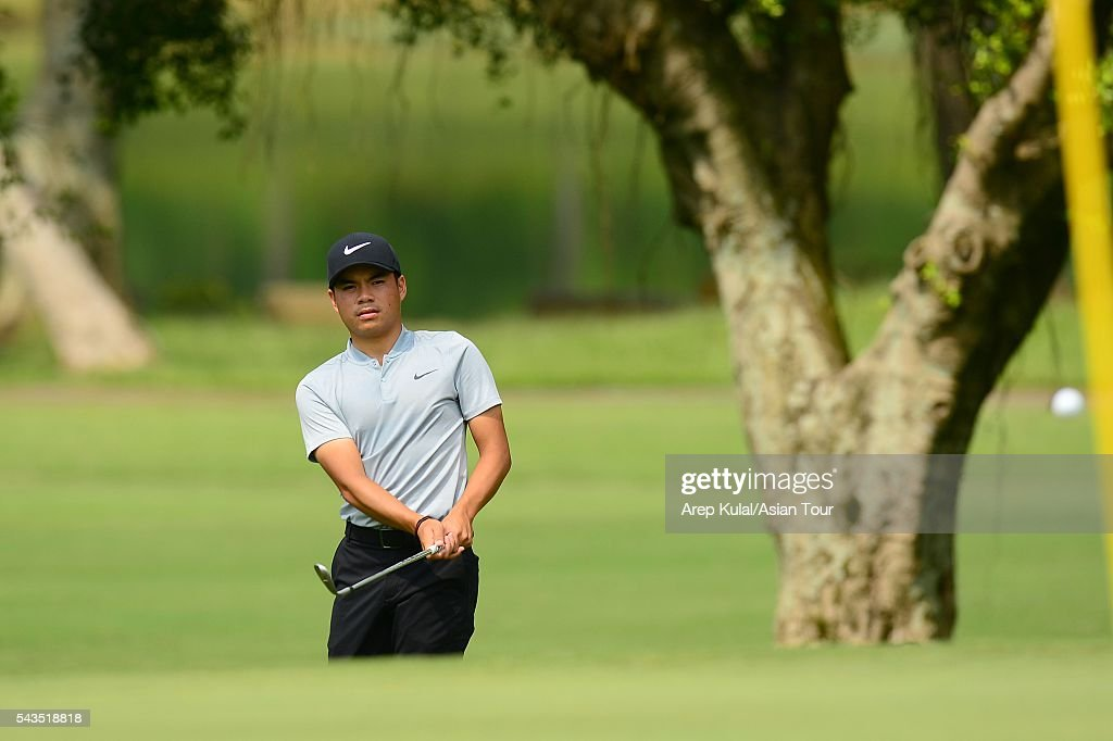 Miguel Tabuena of Philippines pictured during the ProAM tournament ahead of Yeangder Tournament Players Championship at Linkou International Golf Club on June 29, 2016 in Taipei, Taiwan.