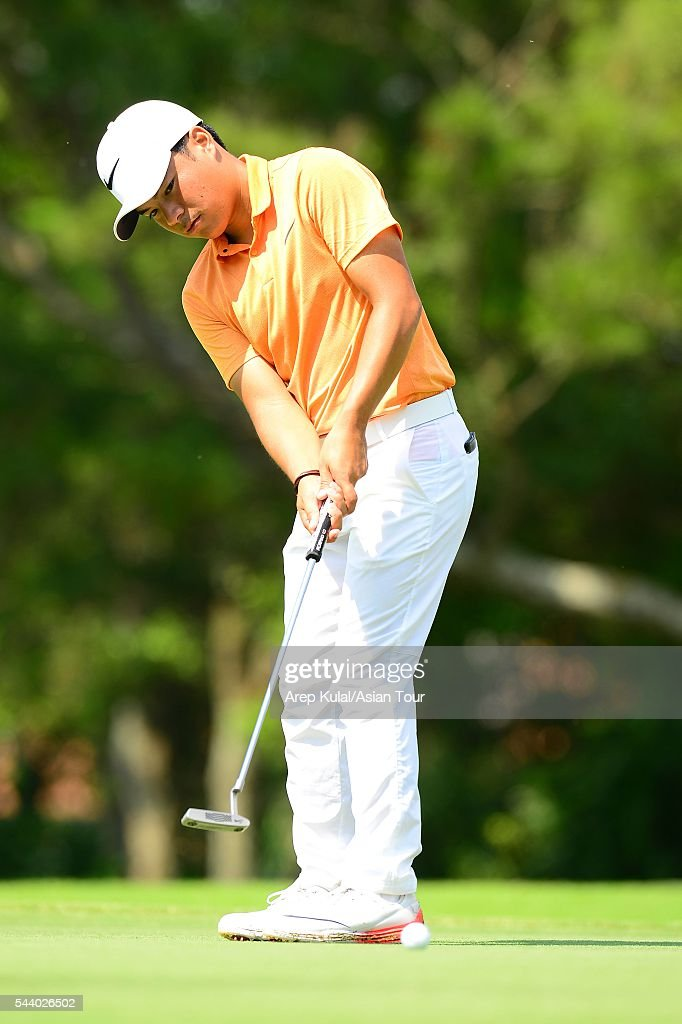 Miguel Tabuena of Philippines pictured during the round 2 of the Yeangder Tournament Players Championship 2016 at Linkou International Golf Club on July 1, 2016 in Taipei, Taiwan.