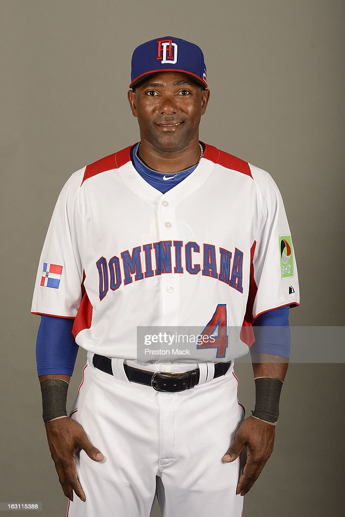 Miguel Tejada #4 of Team Dominican Republic poses for a headshot for the 2013 World Baseball Classic on March 4, 2013 at George M. Steinbrenner Field in Tampa, Florida.