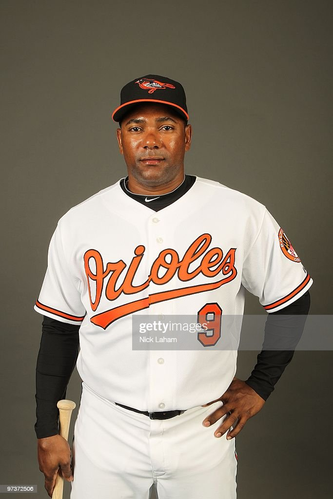 Miguel Tejada of the Baltimore Orioles poses for a photo during Spring Training Media Photo Day at Ed Smith Stadium on February 27 2010 in Sarasota...