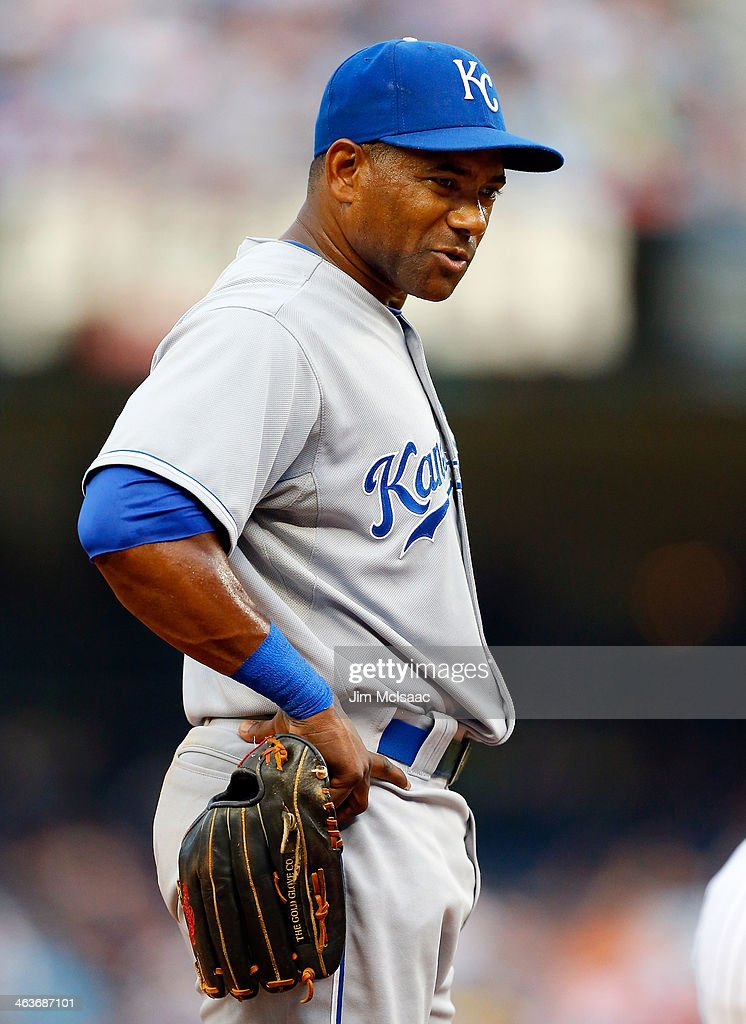 Miguel Tejada of the Kansas City Royals looks on against the New York Yankees at Yankee Stadium on July 9 2013 in the Bronx borough of New York City...