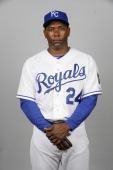 Miguel Tejada of the Kansas City Royals poses during Photo Day on February 21 2013 at Surprise Stadium in Surprise Arizona