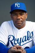 Miguel Tejada of the Kansas City Royals poses for a portrait on photo day at the Surprise Sports Complex on February 21 2013 in Surprise Arizona