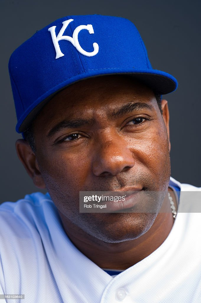 Miguel Tejada #24 of the Kansas City Royals poses for a portrait on photo day at the Surprise Sports Complex on February 21, 2013 in Surprise, Arizona.