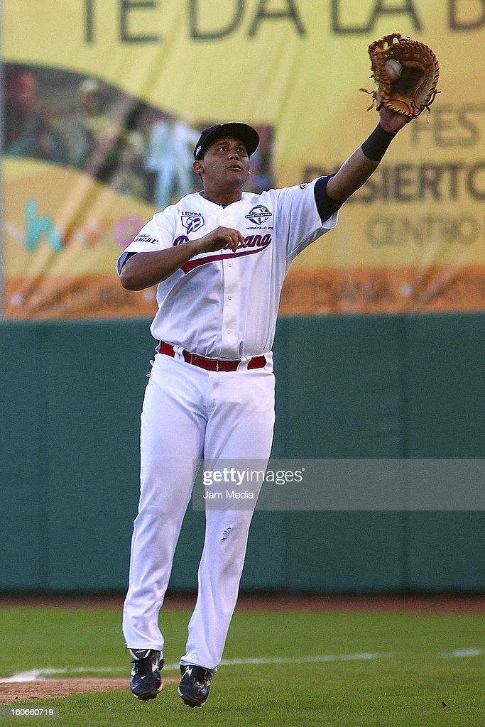 Miguel Tejeda of Republica Dominicana in action during the Caribbean Series Baseball 2013 in Sonora Stadium on February 2, 2013 in Hermosillo, Mexico.