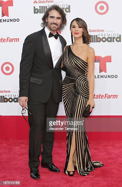 Miguel Varoni and Catherine Siachoque arrive at Billboard Latin Music Awards 2013 at Bank United Center on April 25 2013 in Miami Florida