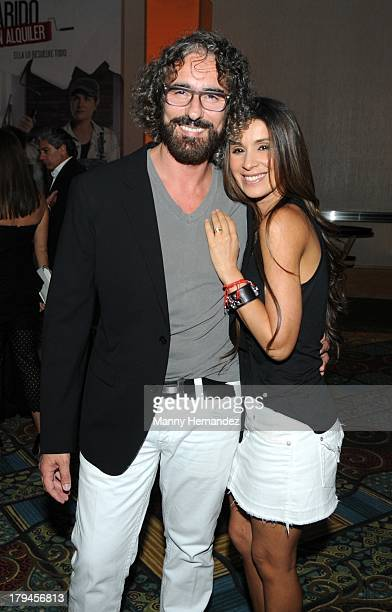 Miguel Varoni and Catherine Siachoque attend Telemundo's 'Marido El Alquiler' Press Event at Westin Diplomat on September 3 2013 in Hollywood Florida