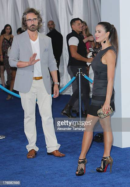 Miguel Varoni and Catherine Siachoque attend Telemundo's Premios Tu Mundo Awards at American Airlines Arena on August 15 2013 in Miami Florida