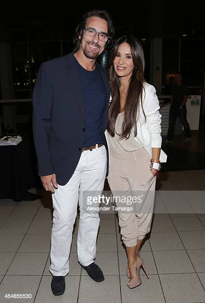 Miguel Varoni and Catherine Siachoque make an appearance at the 'No Good Deed' movie screening on September 4 2014 in Miami Florida