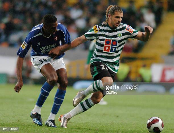 Miguel Veloso during a Portuguese League match between Sporting and Belenenses in Lisbon Portugal on May 20 2007