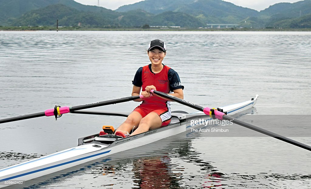 Miharu Takashima poses for photographs on August 31 2015 in Yonago Tottori Japan