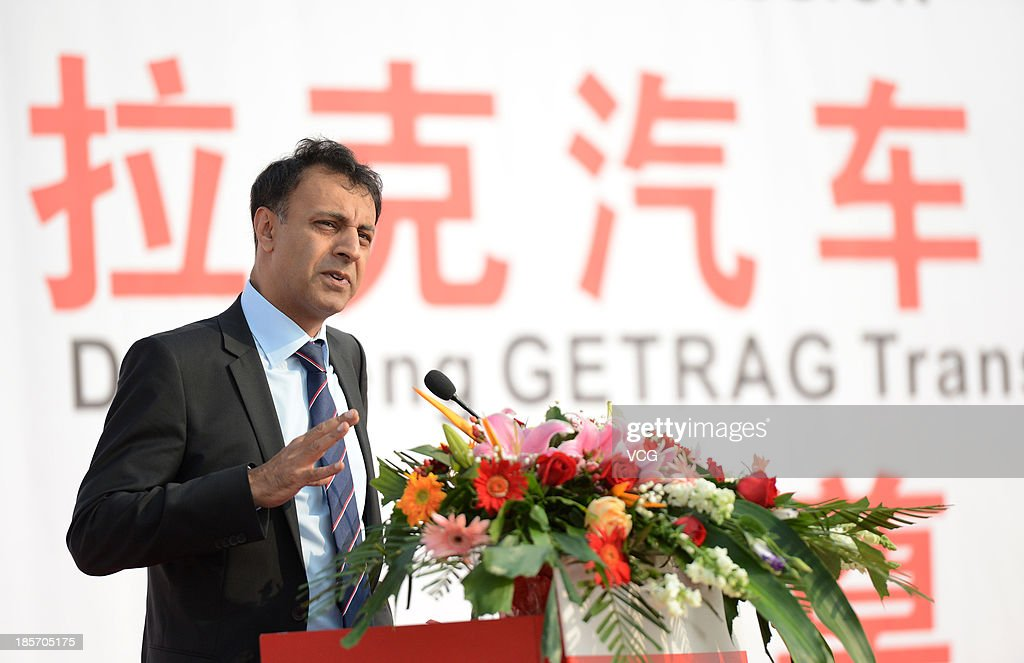Mihir Kotecha, Chief Executive Officer of Getrag Group, speaks during the Dongfeng Getrag Transmission Co. Ltd opening ceremony on October 23, 2013 in Wuhan, China. The Dongfeng Getrag Transmission Co. Ltd, a joint venture between Chinese automaker Dongfeng Motor Group and Germany's Getrag Group, was put into operation in Wuhan on Wednesday, with initial capacity of 250,000 dual-clutch automatic transmission units a year.