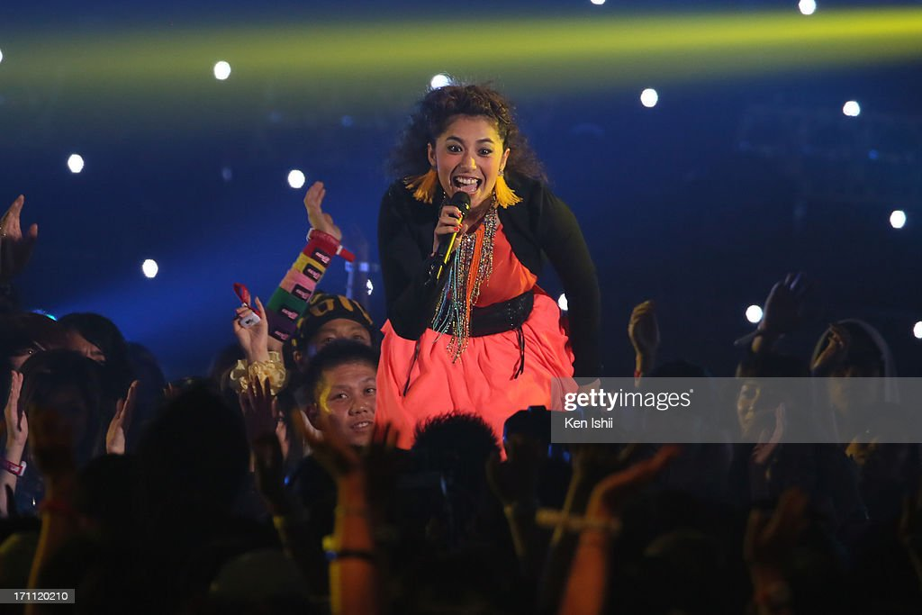 Miho Fukuhara perfoms onstage during the MTV VMAJ 2013 at Makuhari Messe on June 22, 2013 in Chiba, Japan.