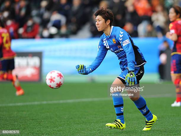 Miho Fukumato Nippon TV Beleza in action during the 38th Empress's Cup Semi Final between Nippon TV Beleza and Albirex Niigata Ladies at Ajinomoto...