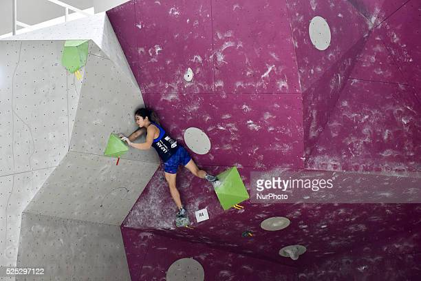 Miho is climbing in Female juniors boulder Final for the last route The IFSC Asian Youth championship had been took place in Putrajaya Malaysia on...