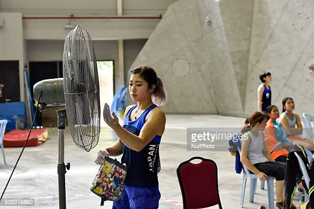Miho is waiting for her turn The IFSC Asian Youth championship had been took place in Putrajaya Malaysia on December 26 2015 All three disciplines of...