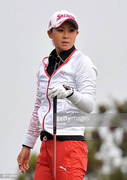 Miho Koga looks on during the round one of the Yokohama Tire Golf Tournament PRGR Ladies Cup at Tosa Country Club on March 12 2010 in Konan Kochi...