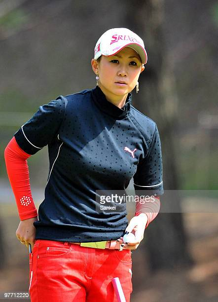 Miho Koga of Japan is seen during the final round of the Yokohama Tire Golf Tournament PRGR Ladies Cup at Tosa Country Club on March 14 2010 in Konan...