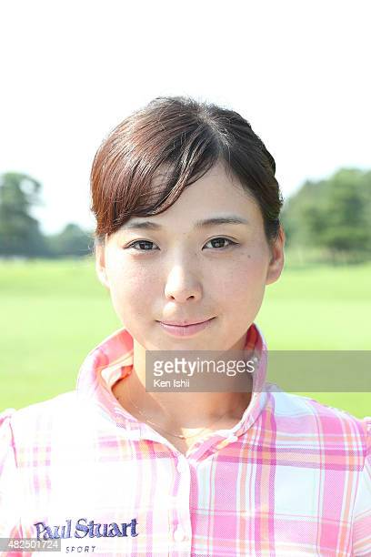 Miho Mori of Japan during a Portrait Session at the LPGA poses Pro Test QT at the Kodama Golf Club on July 31 2015 in Honjo Japan