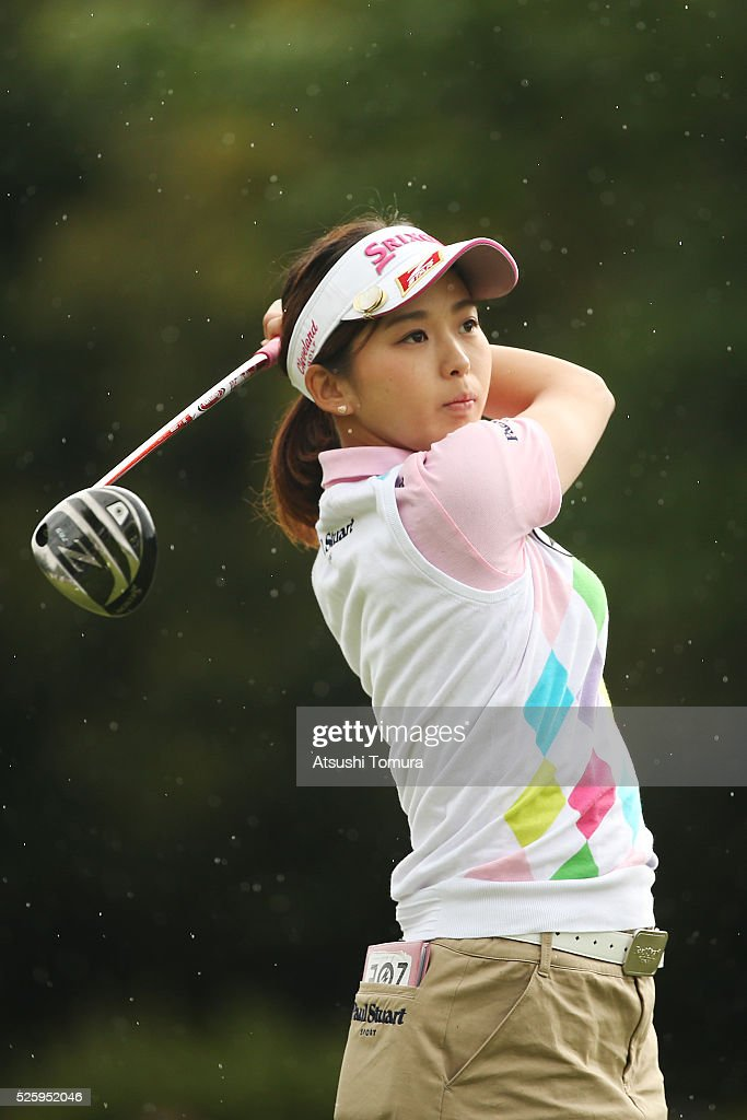 <a gi-track='captionPersonalityLinkClicked' href=/galleries/search?phrase=Miho+Mori+-+Golfer&family=editorial&specificpeople=7856917 ng-click='$event.stopPropagation()'>Miho Mori</a> of Japan hits her tee shot on the 1st hole during the first round of the CyberAgent Ladies Golf Tournament at the Grand Fields Country Club on April 29, 2016 in Mishima, Japan.