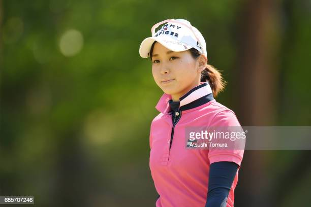 Miho Mori of Japan looks on during the final round of the Twin Fields Ladies Tournament at the Golf Club Twin Fields on May 19 2017 in Komatsu Japan