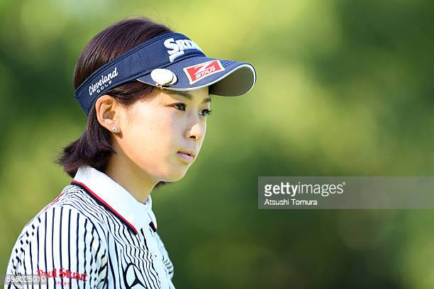 Miho Mori of Japan looks on during the first round of the Nitori Ladies 2016 at the Otaru Country Club on August 25 2016 in Otaru Japan