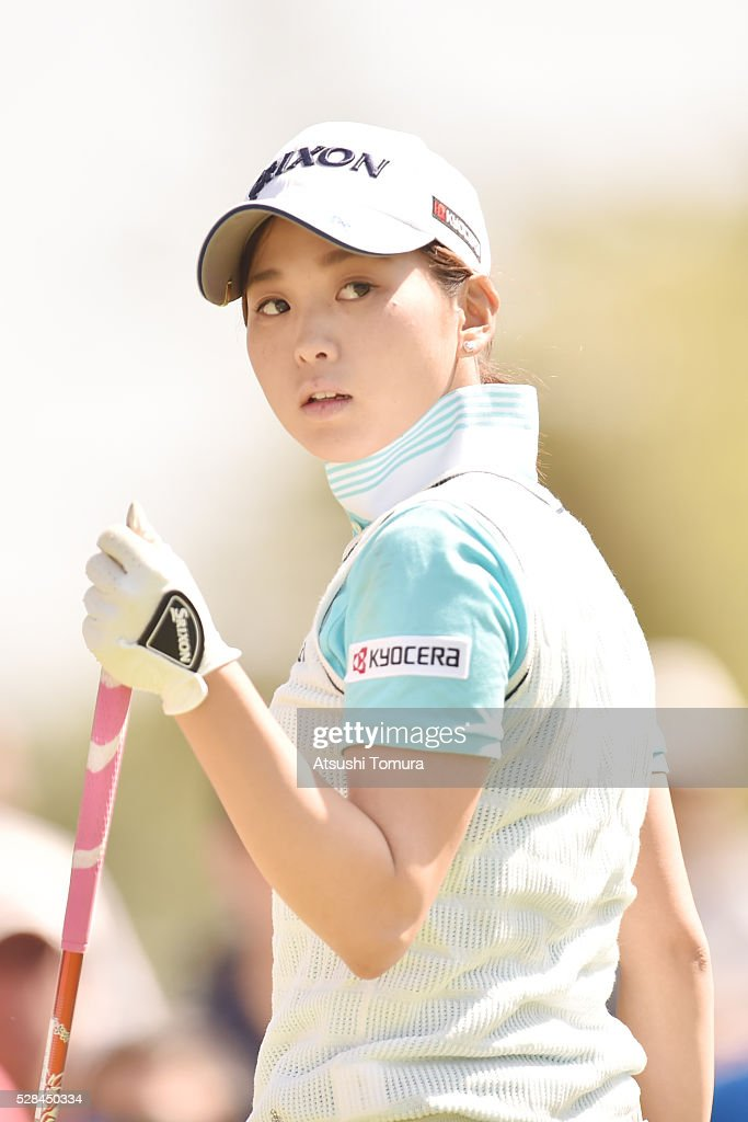 <a gi-track='captionPersonalityLinkClicked' href=/galleries/search?phrase=Miho+Mori+-+Golfer&family=editorial&specificpeople=7856917 ng-click='$event.stopPropagation()'>Miho Mori</a> of Japan looks on during the first round of the World Ladies Championship Salonpas Cup at the Ibaraki Golf Club on May 5, 2016 in Tsukubamirai, Japan.
