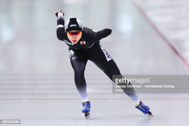 Miho Takagi of Japan competes in the Ladies 1000m during day 1 of the ISU World Cup Speed Skating at Soermarka Arena on March 11 2017 in Stavanger...