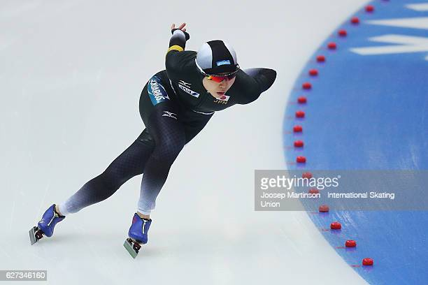 Miho Takagi of Japan competes in the Ladies 1000m during day two of ISU World Cup Speed Skating at Alau Ice Palace on on December 3 2016 in Astana...