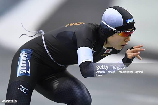 Miho Takagi of Japan competes in the Ladies 1500m Division A at M Wave on November 20 2016 in Nagano Japan