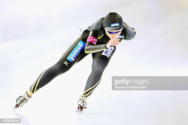 Miho Takagi of Japan competes in the Ladies 3000m Division B competition on Day 1 of the Essent ISU World Cup on December 6 2013 in Berlin Germany